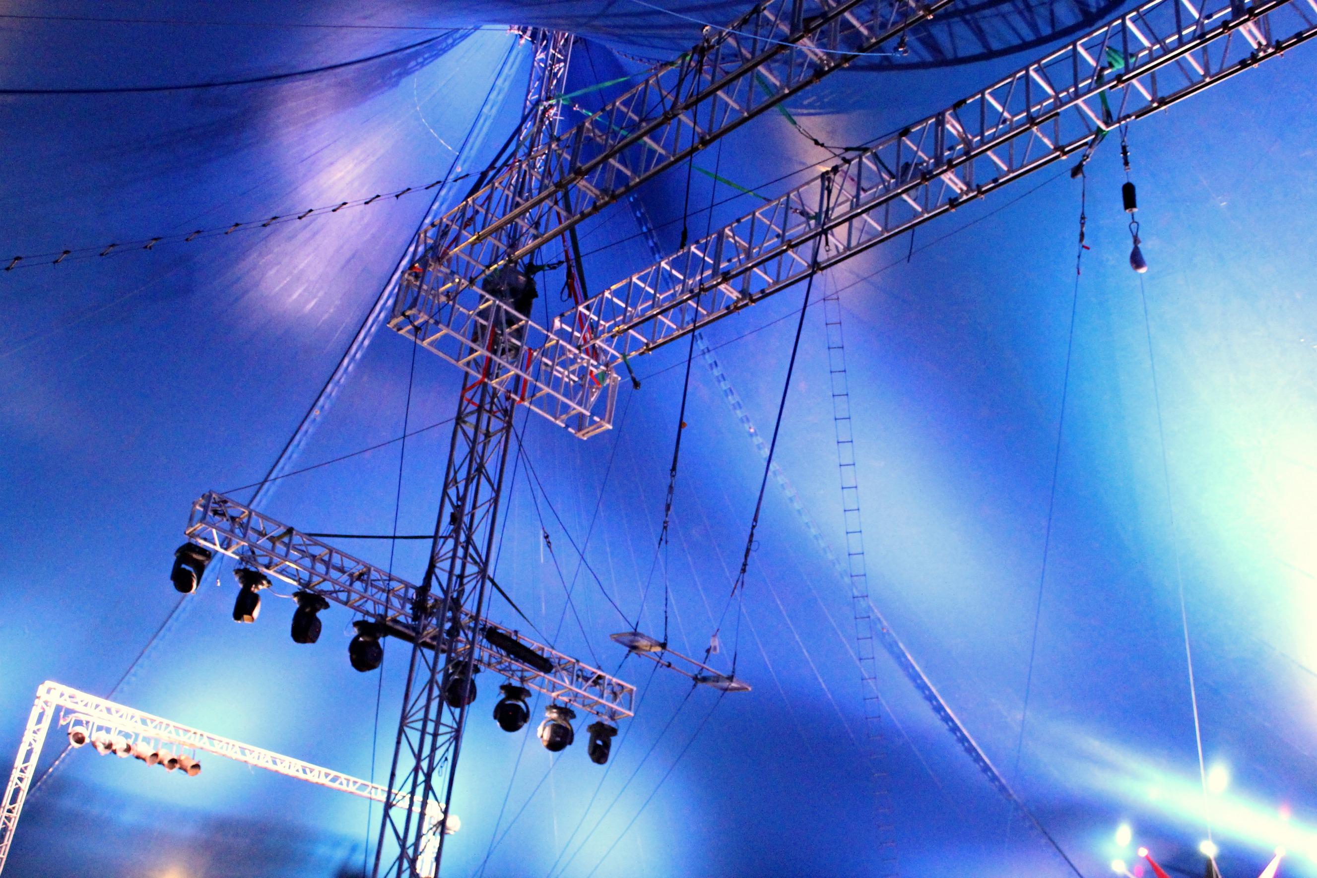 Inside the huge circus tent & Inside the huge circus tent u2013 inesianion